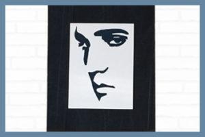 Elvis, Elvis Presley, rocknroll, rock n roll, denimart, denim art, popart, pop art, portræt, unika, slowfashion, artwork, contemporaryart, contemporary art, håndlavet, vægkunst, væg kunst, vægophæng, denimporn, denimdetails, denimdudes, denimkunst, denim kunst